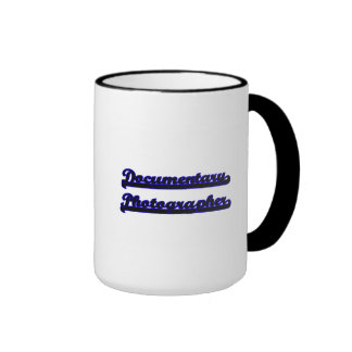 Documentary Photographer Classic Job Design Ringer Coffee Mug