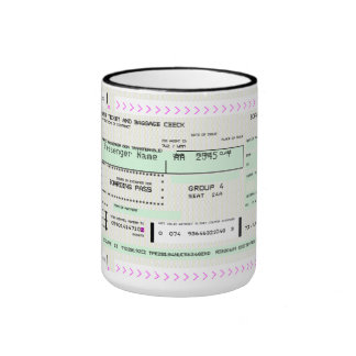 Documento de embarque adaptable taza a dos colores