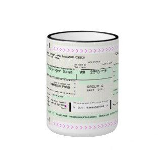 Documento de embarque adaptable taza de dos colores