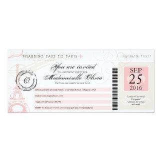Documento de embarque de la fiesta de cumpleaños invitación 10,1 x 23,5 cm