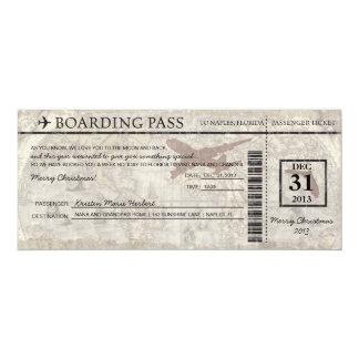 Documento de embarque de la Florida Invitación 10,1 X 23,5 Cm