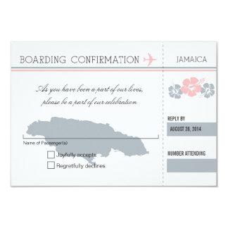 Documento de embarque de RSVP a JAMAICA