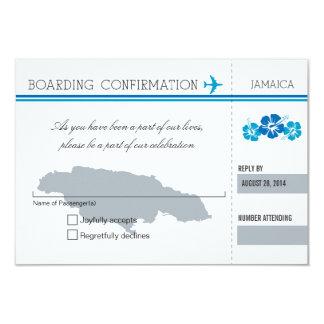 "Documento de embarque de RSVP a JAMAICA Invitación 3.5"" X 5"""