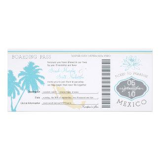 Documento de embarque del boda a México Anuncio Personalizado