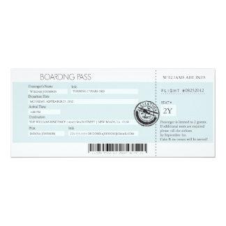 Documento de embarque (mejor premio de hoy) invitación 10,1 x 23,5 cm