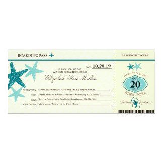 Documento de embarque nupcial de la ducha de Bora Invitación 10,1 X 23,5 Cm