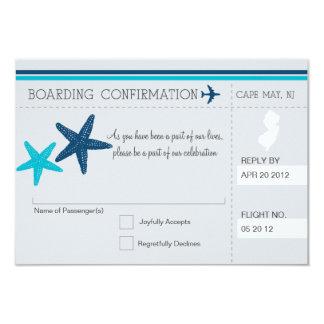"""Documento de embarque RSVP a CAPE MAY NEW JERSEY Invitación 3.5"""" X 5"""""""