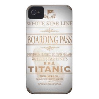 Documento de embarque titánico iPhone 4 cárcasas