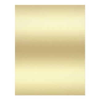 Documento de encargo del oro sobre el lino plantilla de membrete