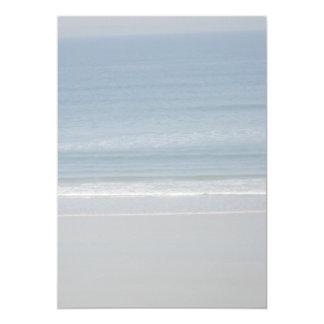 """Documento de información en blanco del océano y de invitación 5"""" x 7"""""""