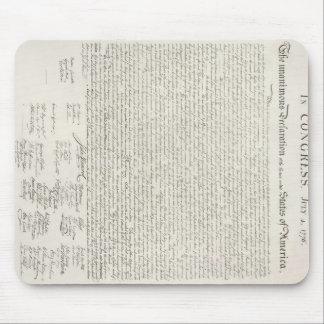 Documento de la Declaración de Independencia Tapete De Ratones