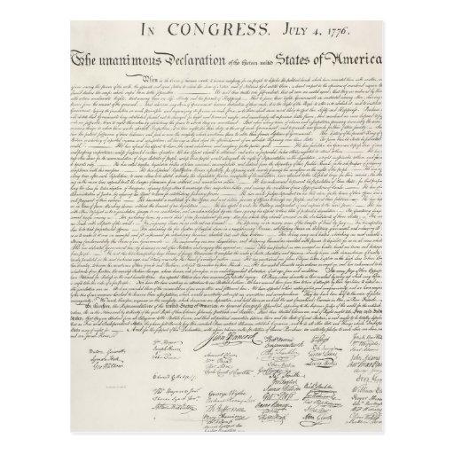 Documento de la Declaración de Independencia Postales