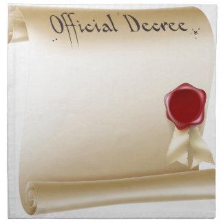 Documento de papel antiguo servilletas imprimidas