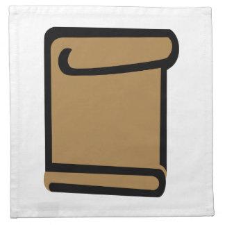 Documento del certificado servilletas imprimidas