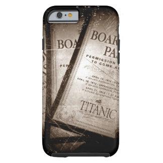 Documentos de embarque titánicos del RMS Funda De iPhone 6 Tough