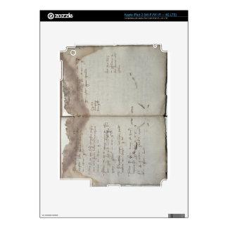 Documentos mercantiles, letra de la aceptación de  pegatina skin para iPad 3