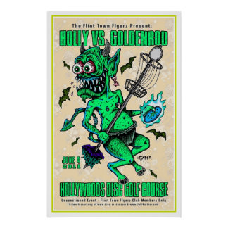 DOD - Disc Golf Poster