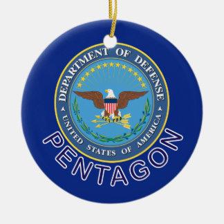 DOD Pentagon Ceramic Ornament
