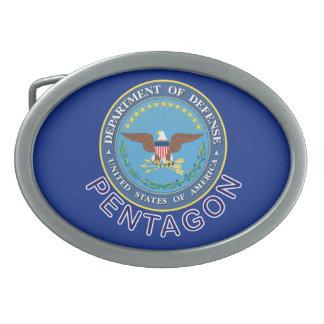 DOD Pentágono Hebillas Cinturón Ovales