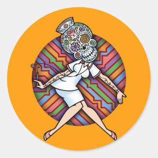 DoD Sugar Nurse Classic Round Sticker