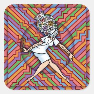 DoD Sugar Nurse Square Sticker