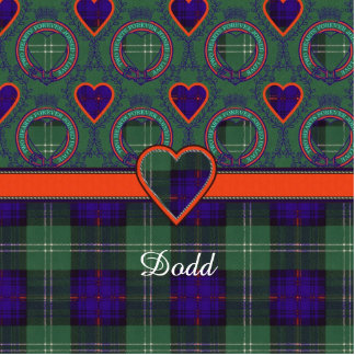 Dodd clan Plaid Scottish kilt tartan Statuette