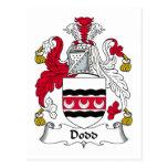 Dodd Family Crest Postcard