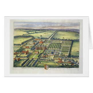 Doddington in the county of Lincoln engraved by Jo Greeting Card