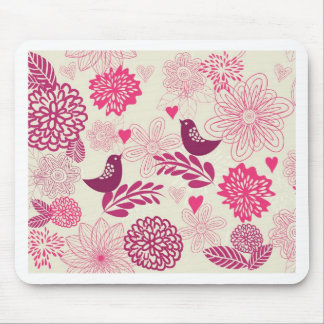 Doddle birds in love mouse pad