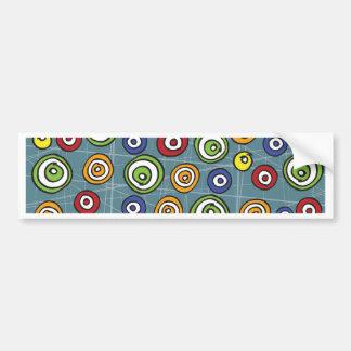doddle circles background bumper sticker