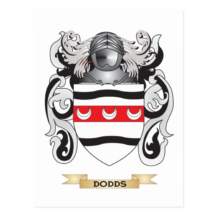 Dodds Coat of Arms Postcard