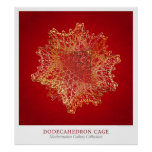 Dodecahedron Cage Poster