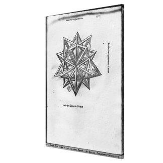 Dodecahedron de De Divina Proportione Impresión En Lona