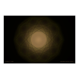 Dodecahedron Dimensional Singularity Poster