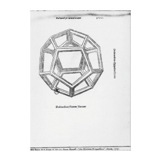 Dodecahedron, from 'De Divina Proportione' Canvas Print