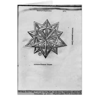 Dodecahedron, from 'De Divina Proportione' Greeting Card