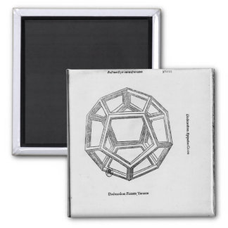Dodecahedron, from 'De Divina Proportione' Magnet