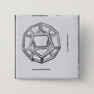 Dodecahedron, from 'De Divina Proportione' Pinback Button