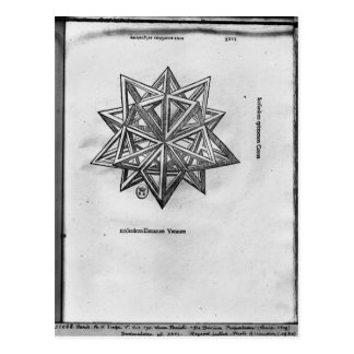 Dodecahedron, from 'De Divina Proportione' Postcard