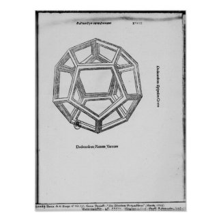 Dodecahedron, from 'De Divina Proportione' Poster