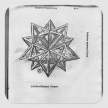 Dodecahedron, from 'De Divina Proportione' Square Sticker