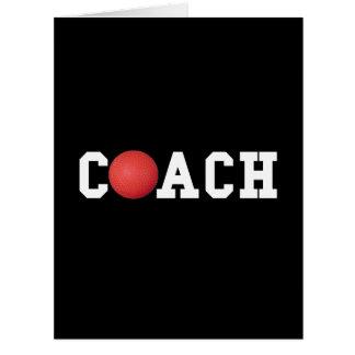 Dodge ball Kickball Coach Large Greeting Card