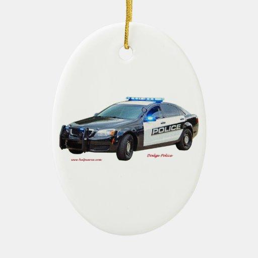 Dodge_Black_White_Police Ceramic Ornament
