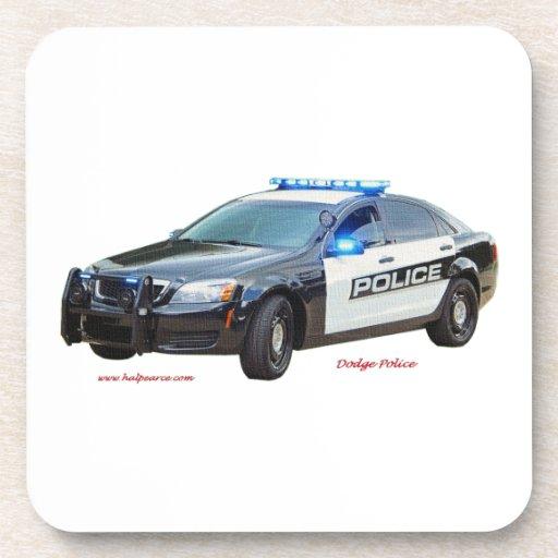 Dodge_Black_White_Police Posavasos De Bebidas