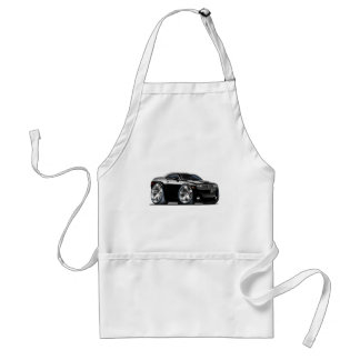 Dodge Challenger Black Car Adult Apron
