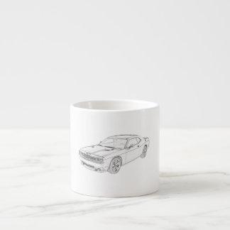 Dodge Challenger Espresso Cup