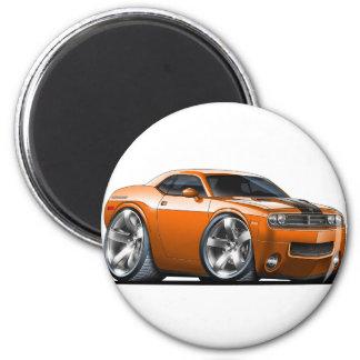 Dodge Challenger Orange Car Magnet