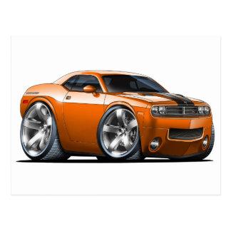 Dodge Challenger Orange Car Postcard