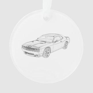Dodge Challenger Ornament