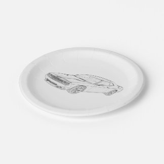 Dodge Challenger Paper Plate
